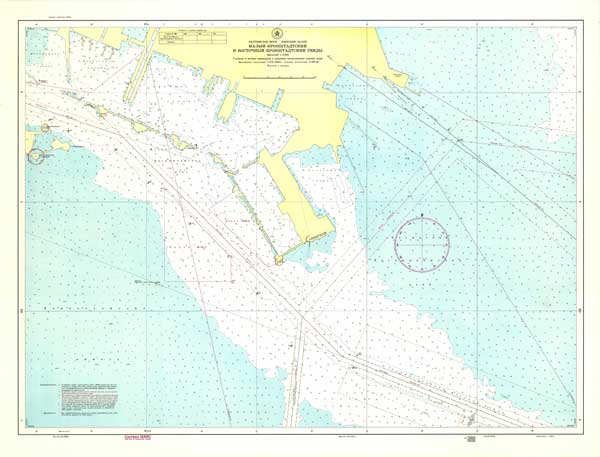 Карта малого Кронштадтского и восточного Кронштадтского рейдов