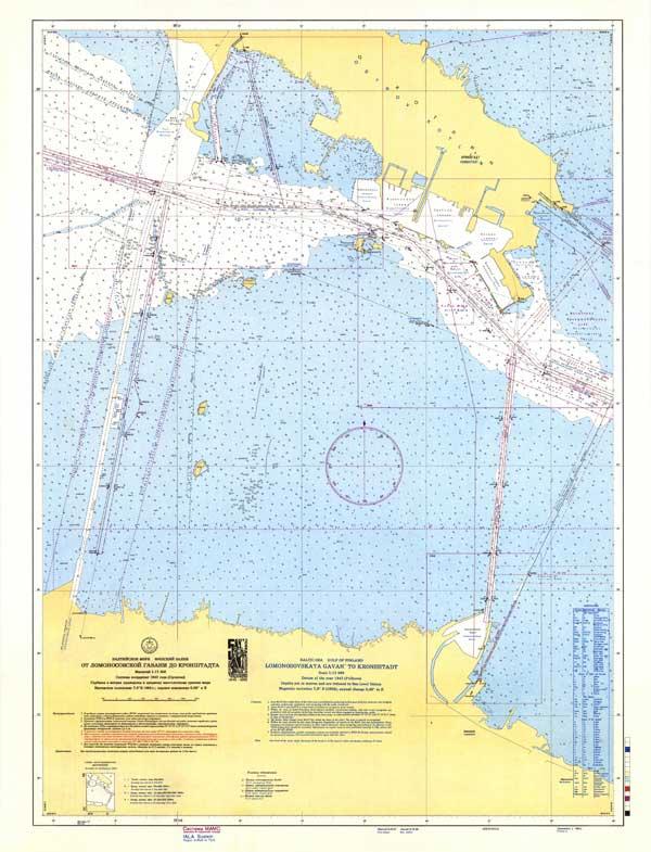Карта от Ломоносовской гавани до Кронштадта