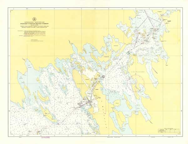 Карта подходов к портам Высоцк и Выборг