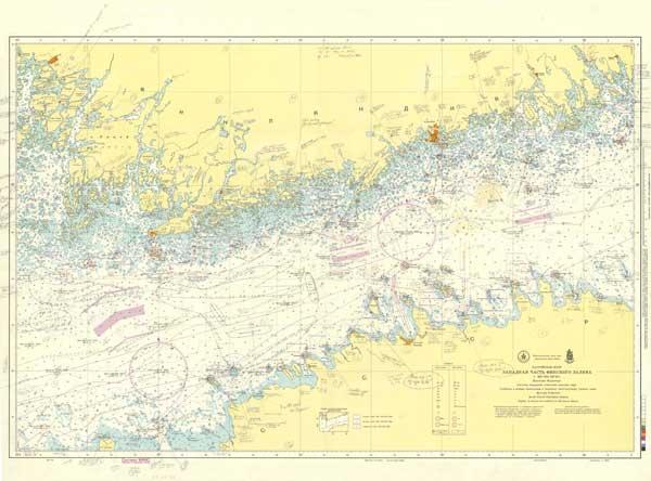 Карта Западной части Финского залива
