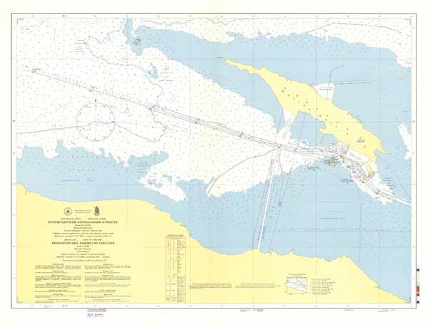Карта Кронштадтского корабельного фарватера