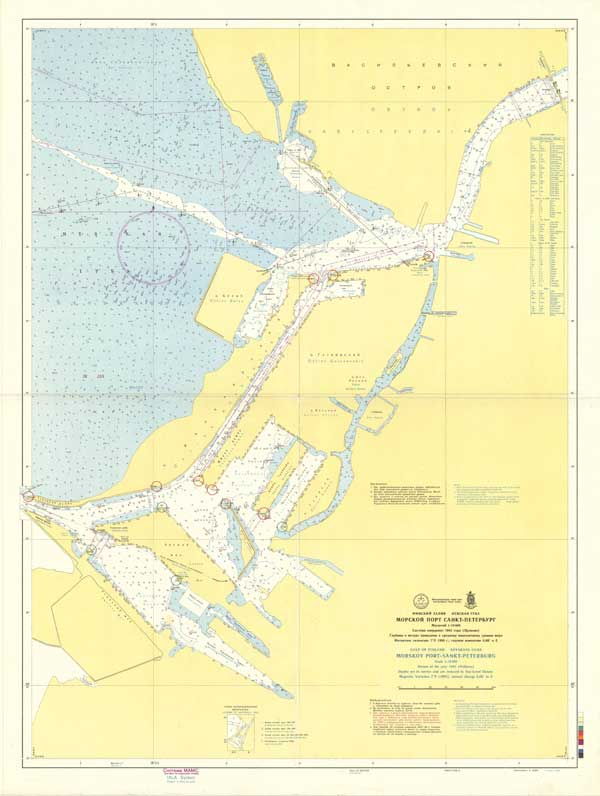 Карта морского порта Санкт-Петербурга