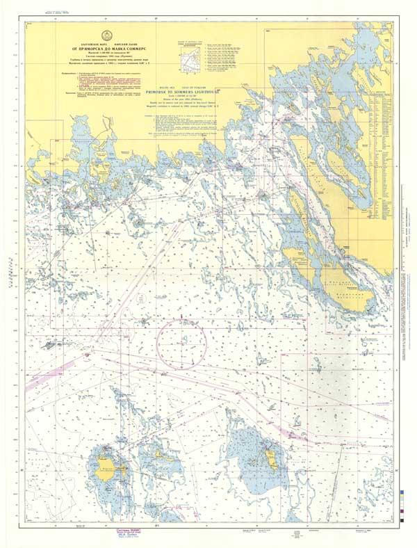 Карта от Приморска до маяка Соммерс