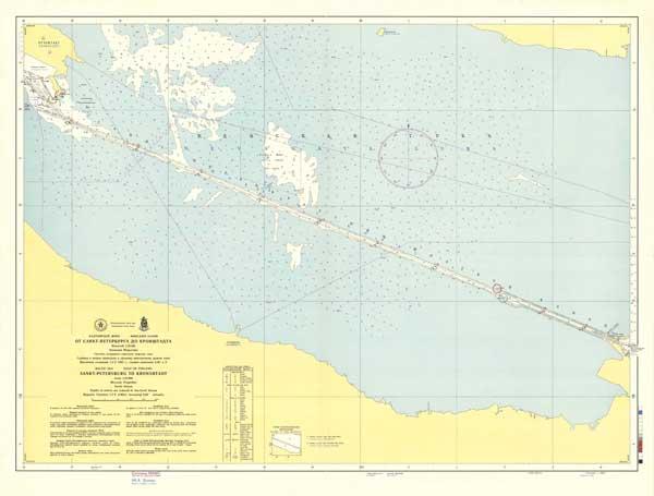 Карта от Санкт-Петербурга до Кронштадта