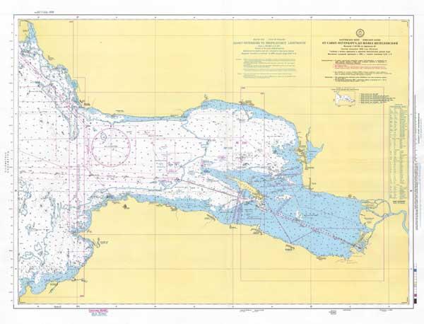 Карта от Санкт-Петербурга до маяка Шепелевский