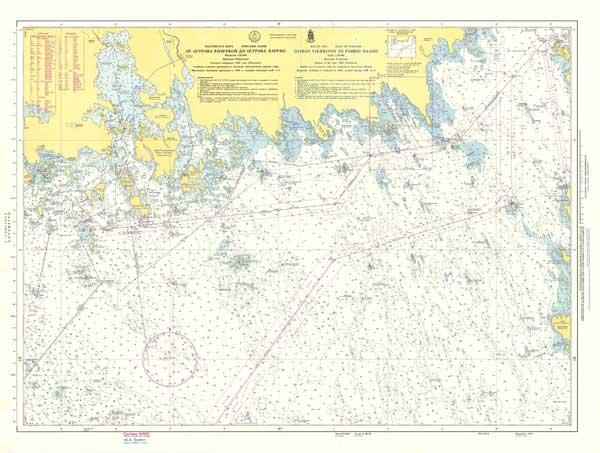 Карта от острова Вихревой до острова Паррио